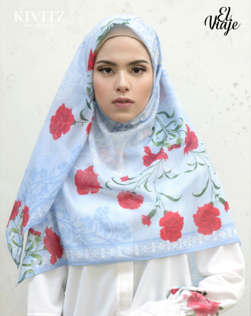 CORDOBA LIMITED SCARF - VOAL (Blue) image