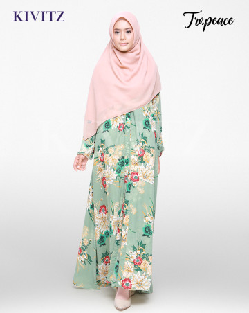 PERRI DRESS (Floral Green) image
