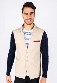 Slim Fit - Varsity Blazer - Khakis - Knit Sleeve