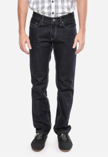Slim Fit - Jeans Panjang - Hitam - Motif Polos
