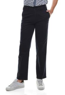 Regular Fit - Celana Katun - Dua Kantong Belakang - Hitam