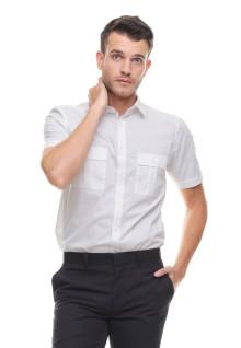 Regular Fit - Kemeja Formal - Dua Kantong - Putih