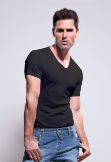 LGS UNDERWEAR - BLACK - VNECK - 3 PCS