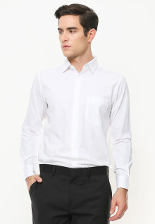 Regular Fit - Kemeja Formal - Lengan Panjang - Putih