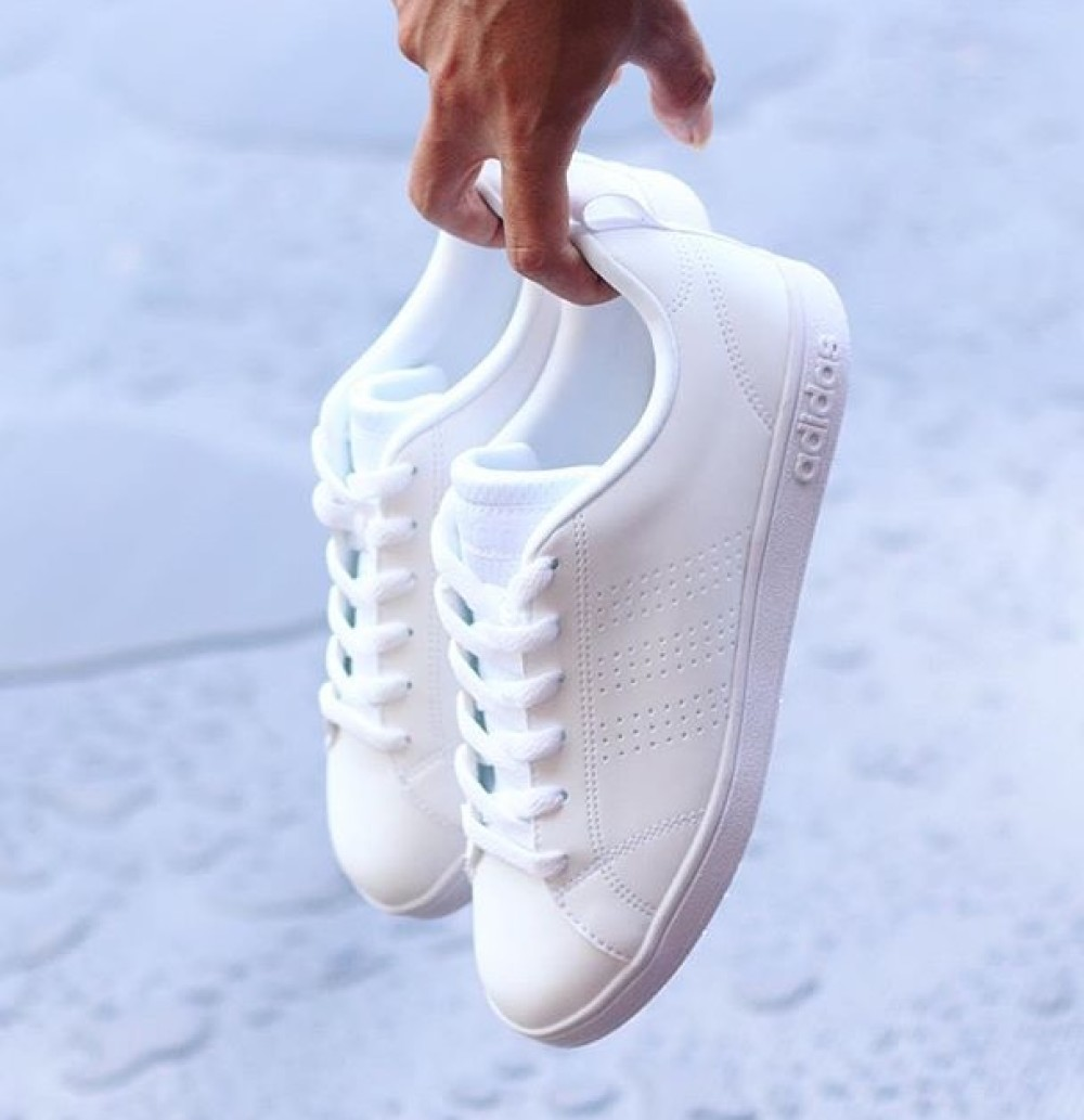 brand new 28c3a 38c6e wmns adidas neo all white running shoes adidas neo advantage full white