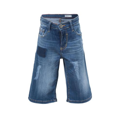 PANTS DENIM WHISKER WASH HILARY Blue