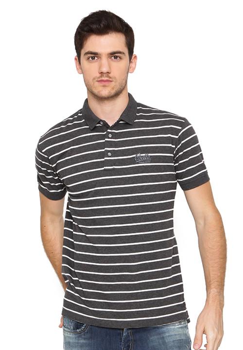 Osella Man Polo Shirt Man Stripe M81 White Misty