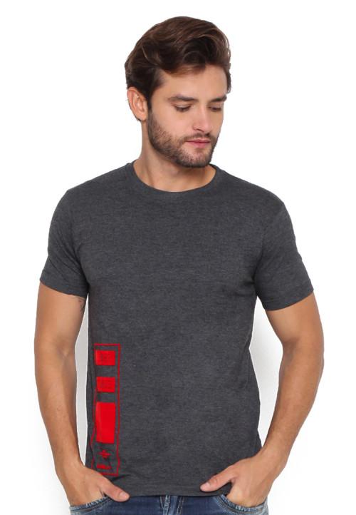 Osella Man T-Shirt Raglan Speech Flocking Grey