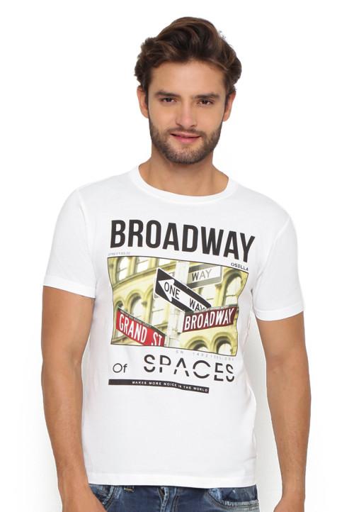 Osella Man T-Shirt Print Broadway White