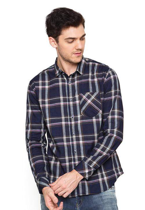 Osella Man Shirt Long Sleev Gap Sandang S.Brown