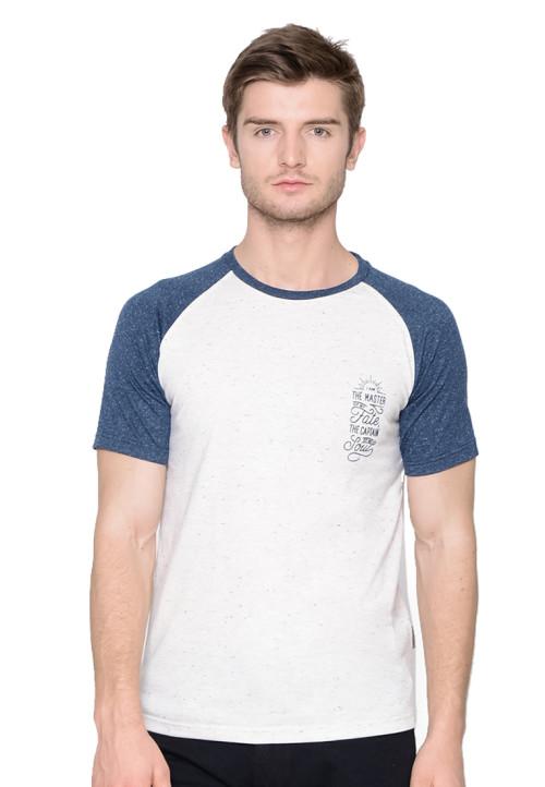 Osella Man Tshirt short raglan print THE MASTER Ivory nap Ivory