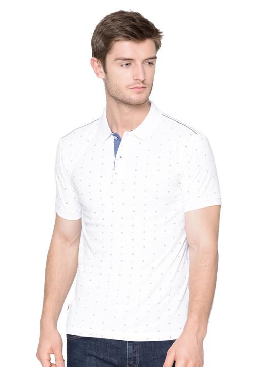 Osella Man polo shirt fashion man white print full body White