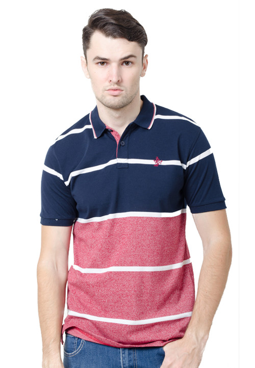 Osella ManOsella Man Polo Shirt Stripe Navy 4