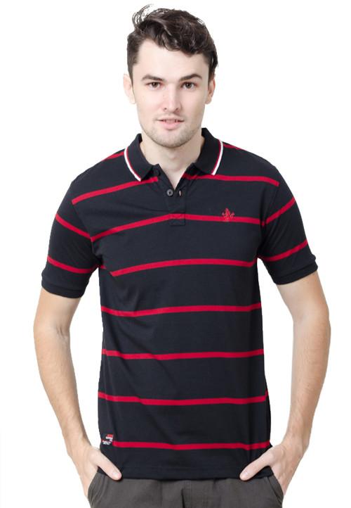 Osella ManOsella Man Polo Shirt Stripe Black 3