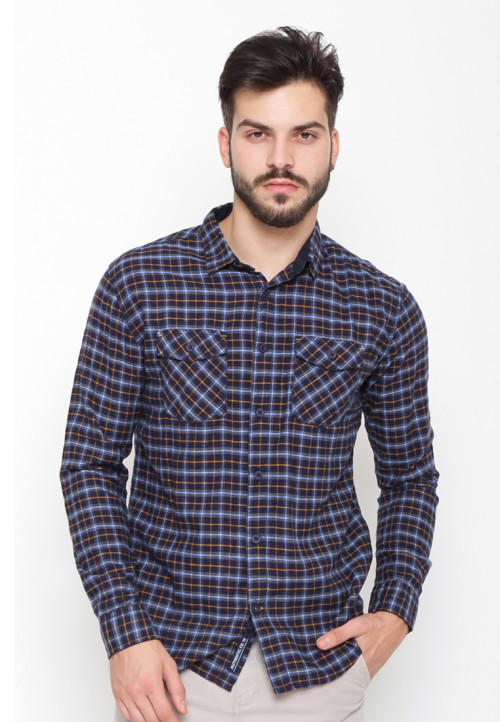 Osella Man Shirt Long Sleeve Torino Twill O.Navy