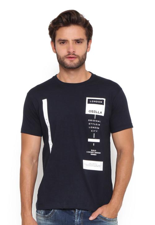 Osella Man T-Shirt Osella Flocking Navy Indigo