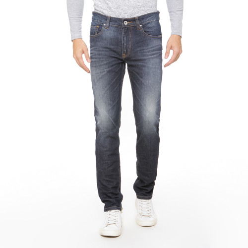 Osella Man Pants Long N/A denim  Slimfit 1202 medium Blue