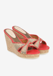Selop Moccasin Cream Red