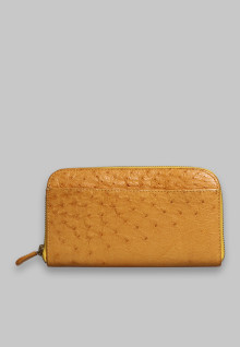 Dompet Rose 2 Sekat  Yellow Ostrich