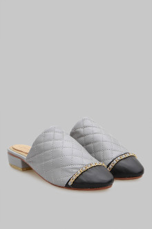 Mules Stiches Grey