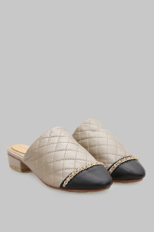 Mules Stiches Cream