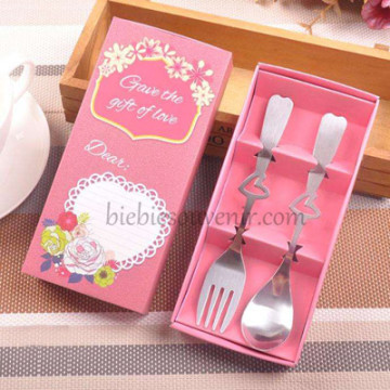 Chic Spoon and Fork Burgundy image