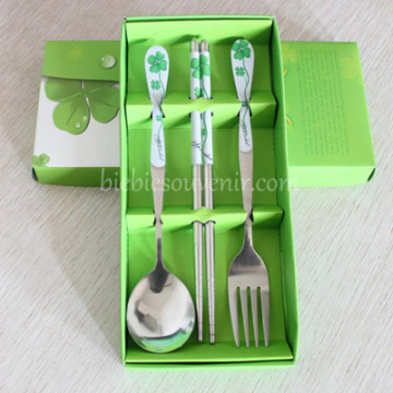 Green 3in1 Cutlery Set image