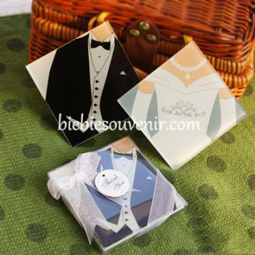Bride n Groom Coaster ( Tuxedo) image
