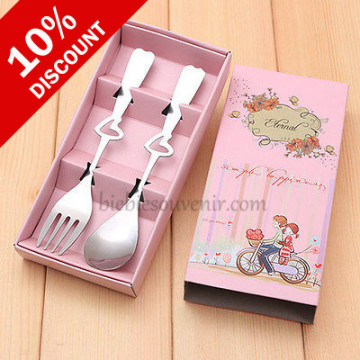 Chic Spoon and Fork Soft Pink image