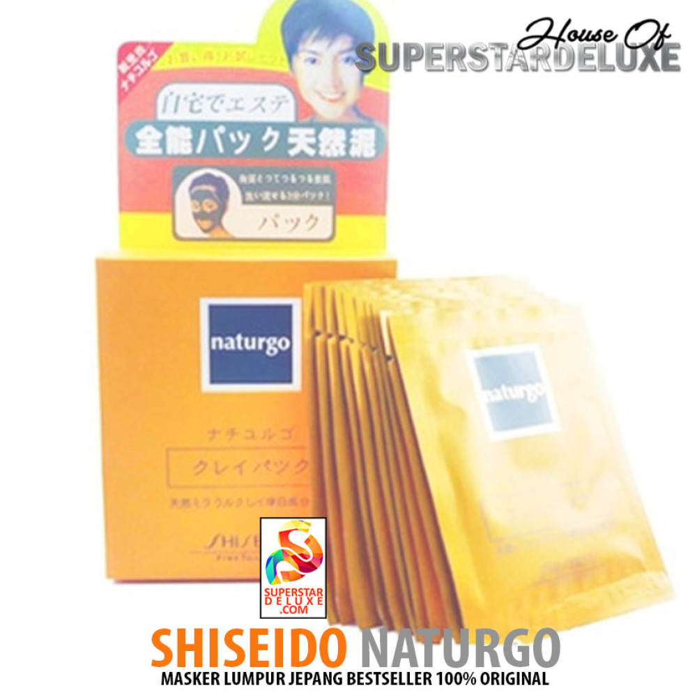 Shiseido Naturgo Masker Lumpur 1 Box 10 Sachet Original Thailand Whitening Mud Black Prevnext
