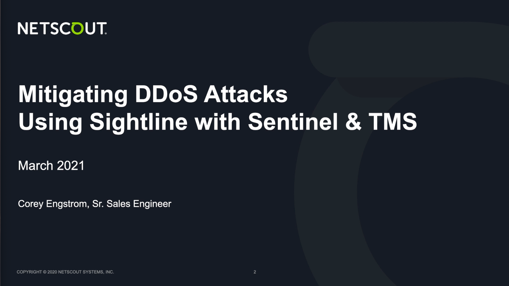 Mitigating DDoS Attacks Using Sightline with Sentinel & TMS