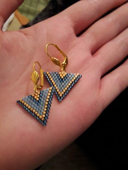 2017 - boucles d'oreille en forme de Triangle