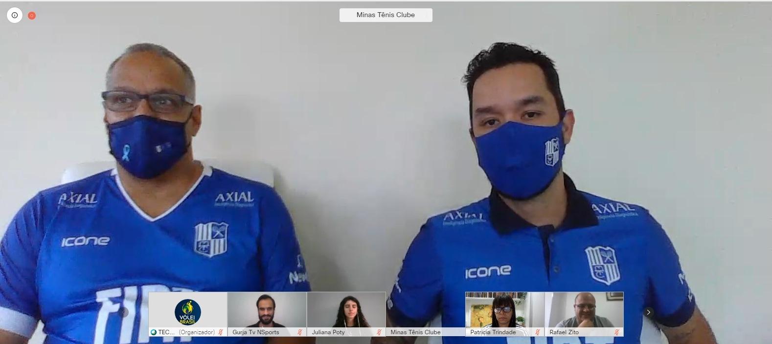 Nery Tambeiro e William durante coletiva online com jornalistas