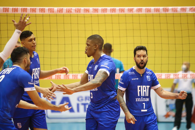 Fiat/Minas está em vantagem na série semifinal da Superliga / Fotos: William Lucas/Inovafoto/CBV