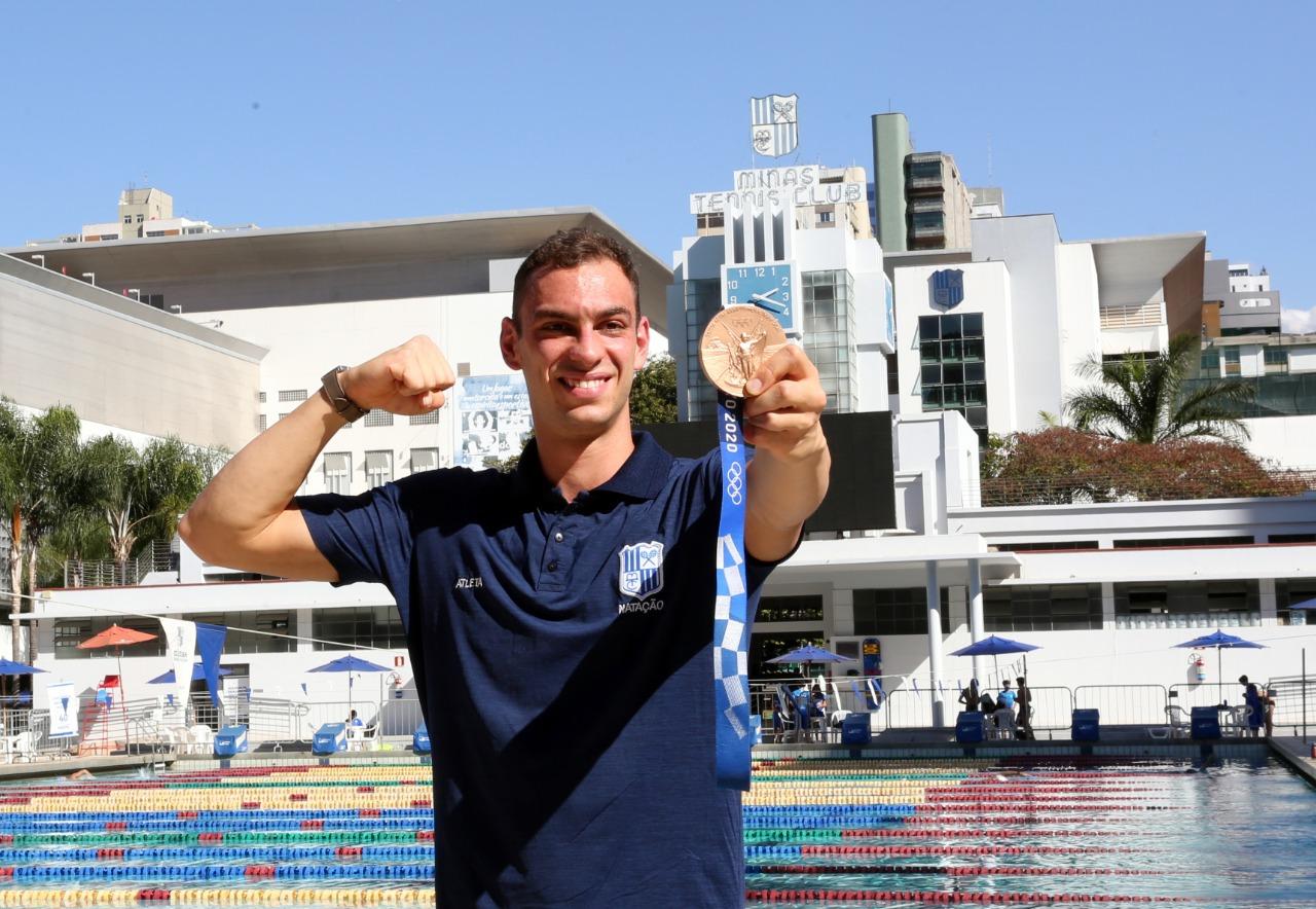 Fernando Scheffer está de volta ao Minas após conquistar a medalha de bronze em Tóquio / Fotos: Orlando Bento/MTC