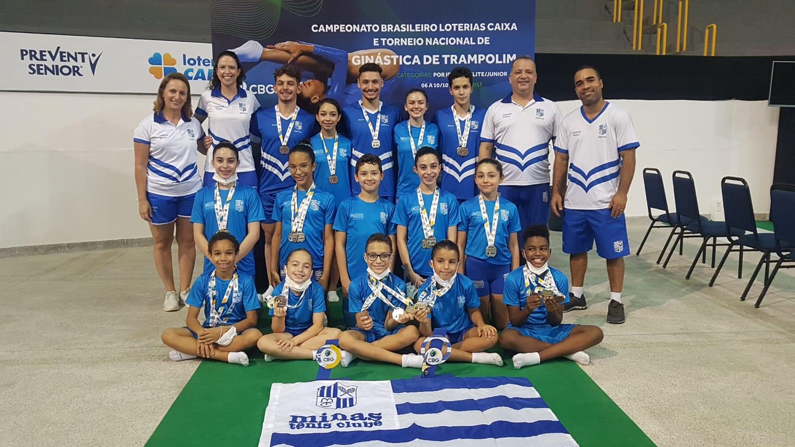 Minas Tênis Clube foi destaque no Campeonato Brasileiro de Ginástica de Trampolim (Foto: Divulgação/MTC)
