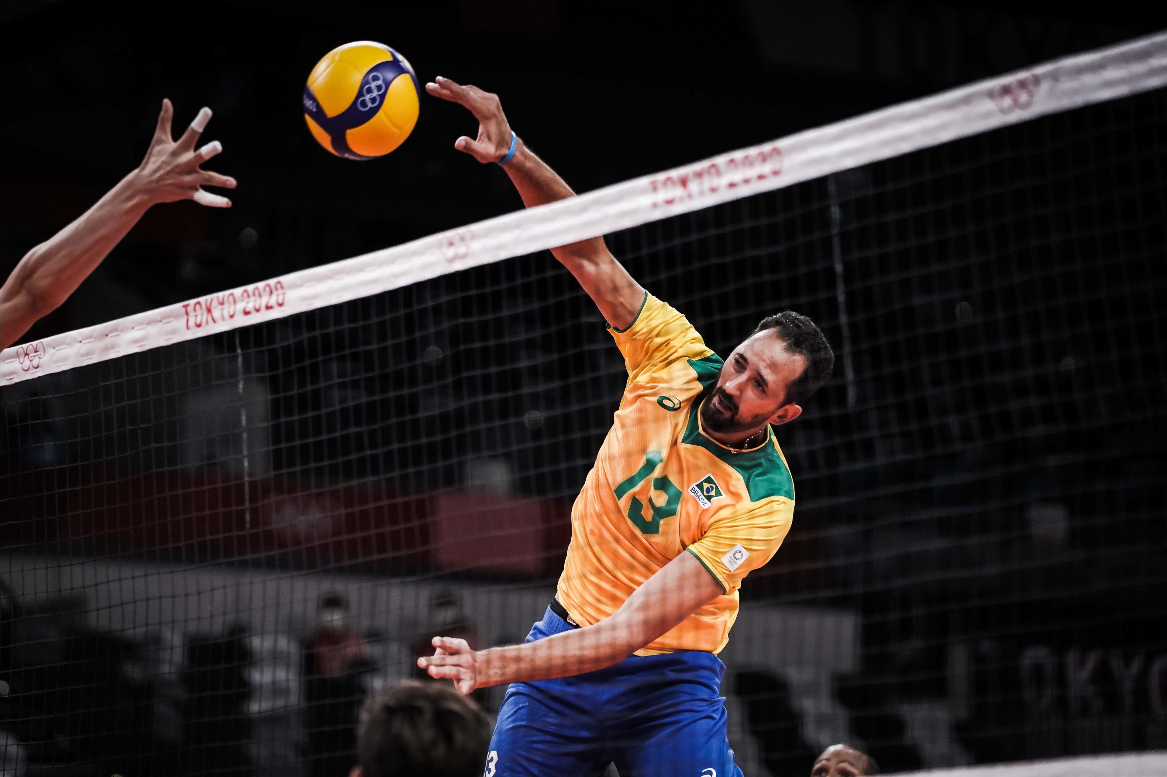 Minastenista em ação na partida válida pelas quartas de finais (Foto: Divulgação/FIVB)