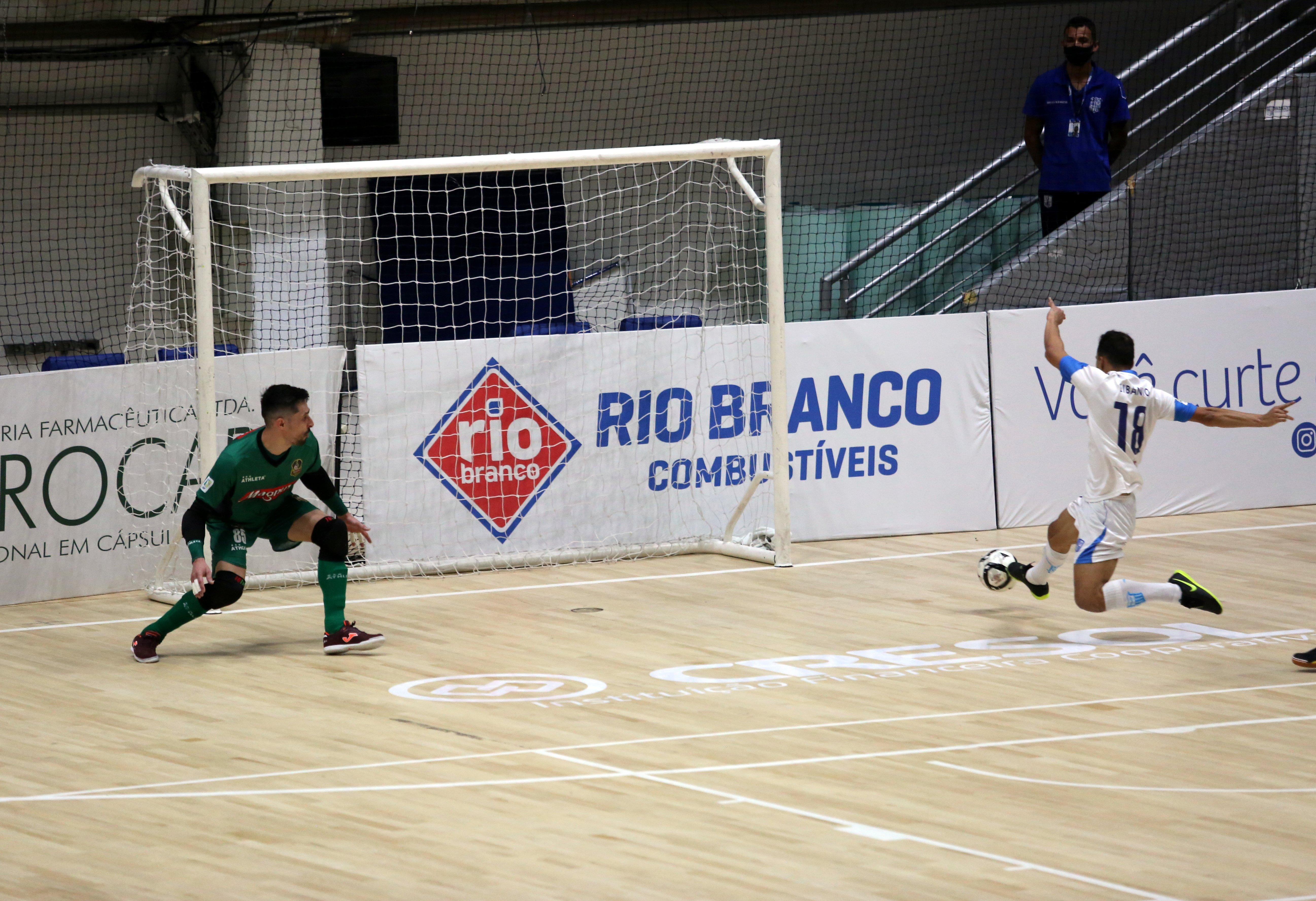 Libânio abriu o placar para o Minas na Arena MTC (Foto: Orlando Bento/MTC)