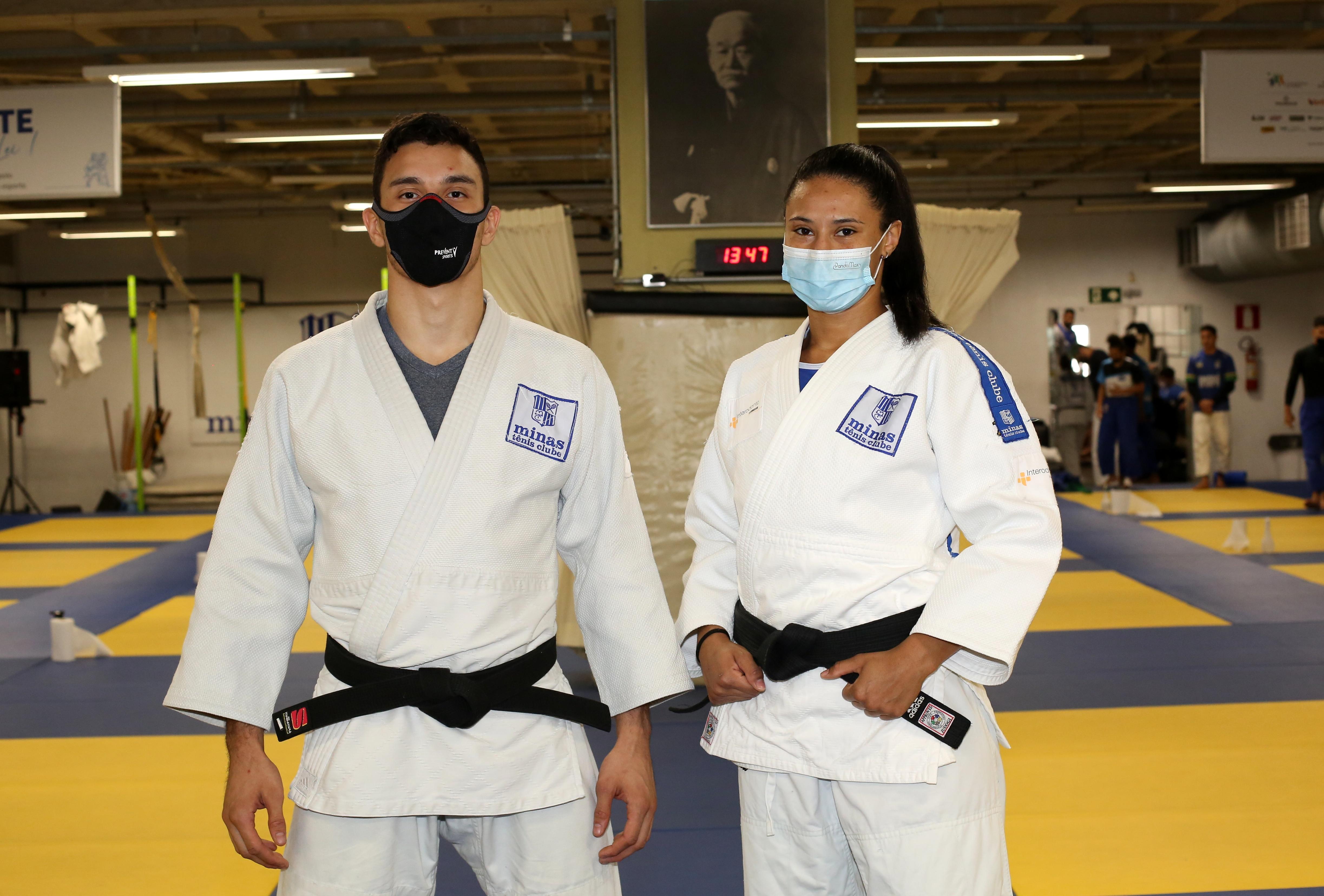 Guilherme Schimidt (81kg) e Millena Silva (70kg) participam da primeira competição internacional pós-Tóquio/ Foto: Orlando Bento/MTC