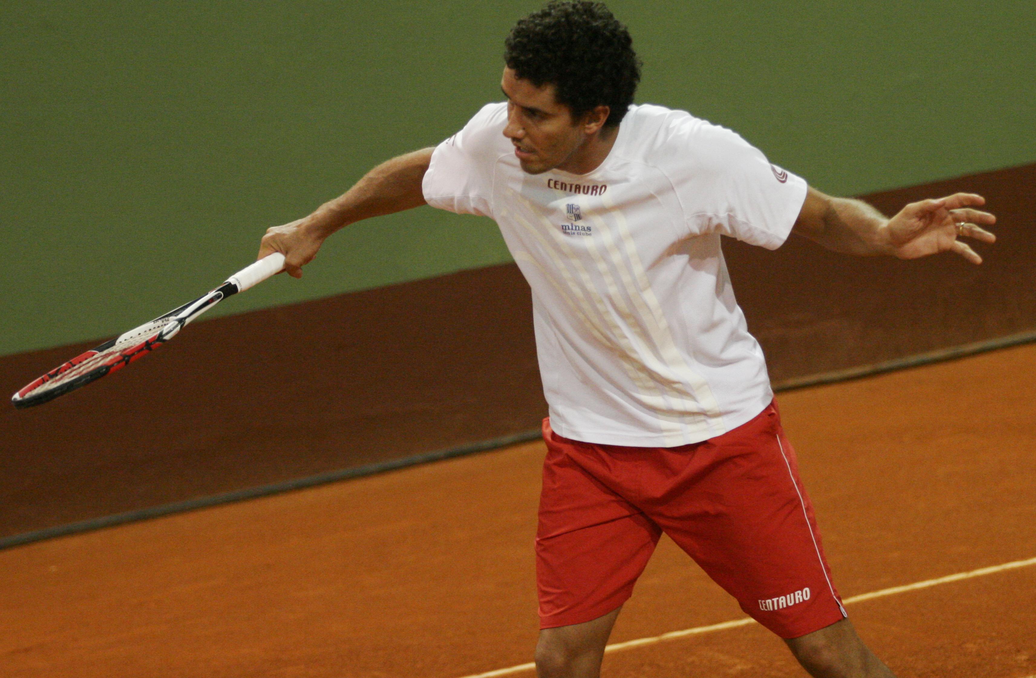André Sá defendeu as cores do Minas no Troféu Brasil de Tênis, em 2009
