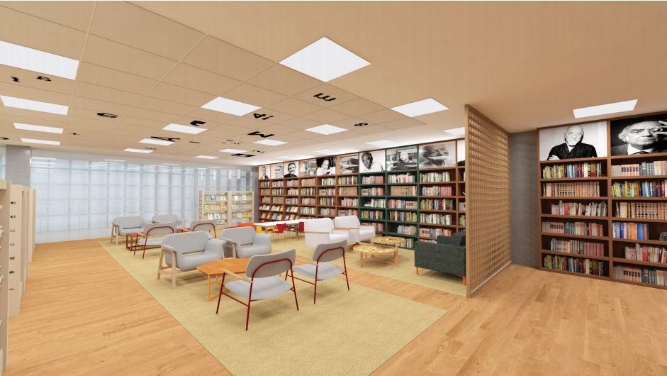 Imagem ilustrativa da biblioteca do Centro Cultural Unimed-BH Minas