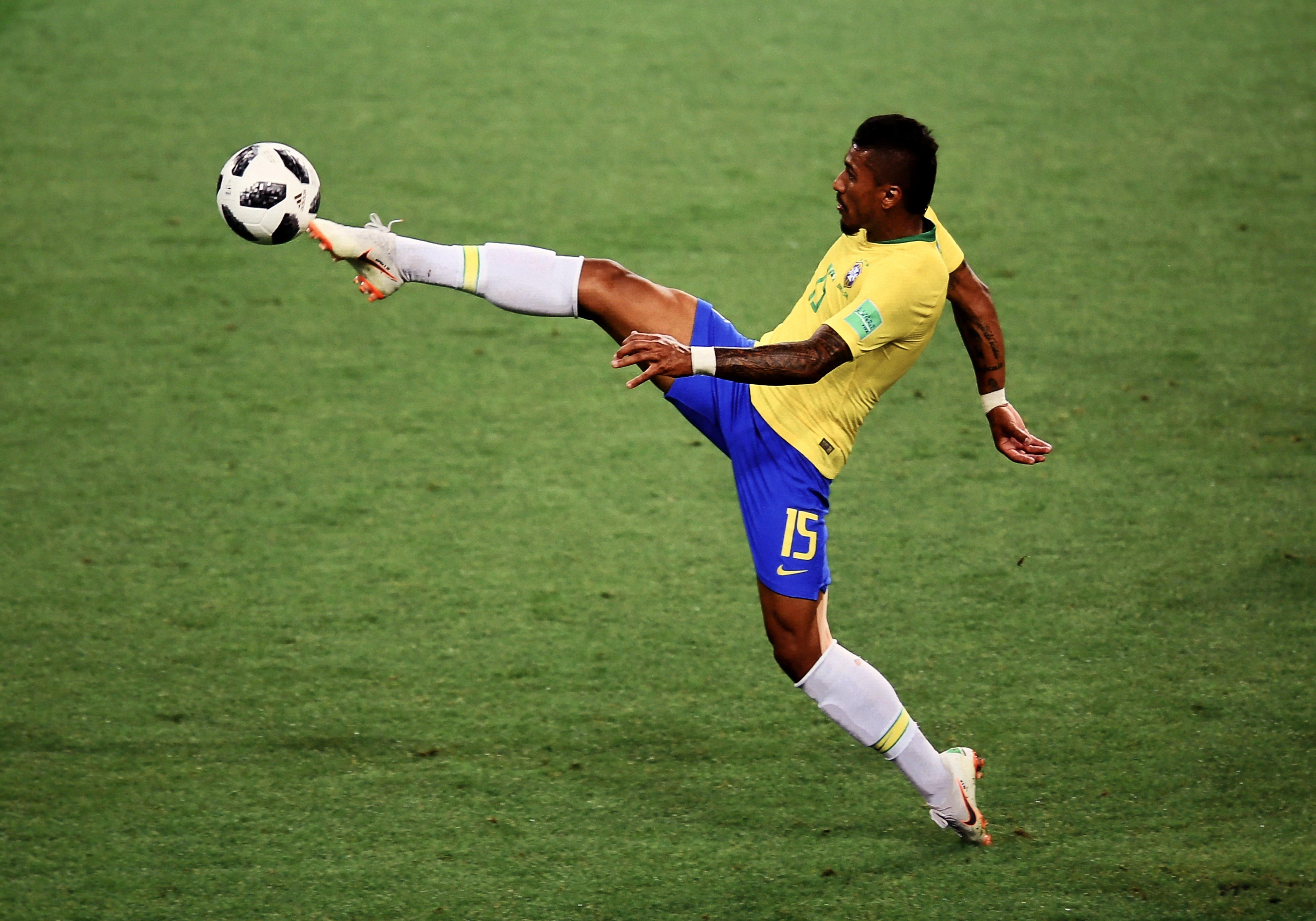 Foto de Eugênio Sávio do jogador Paulinho na Copa da Russia.  Foto: Orlando Bento