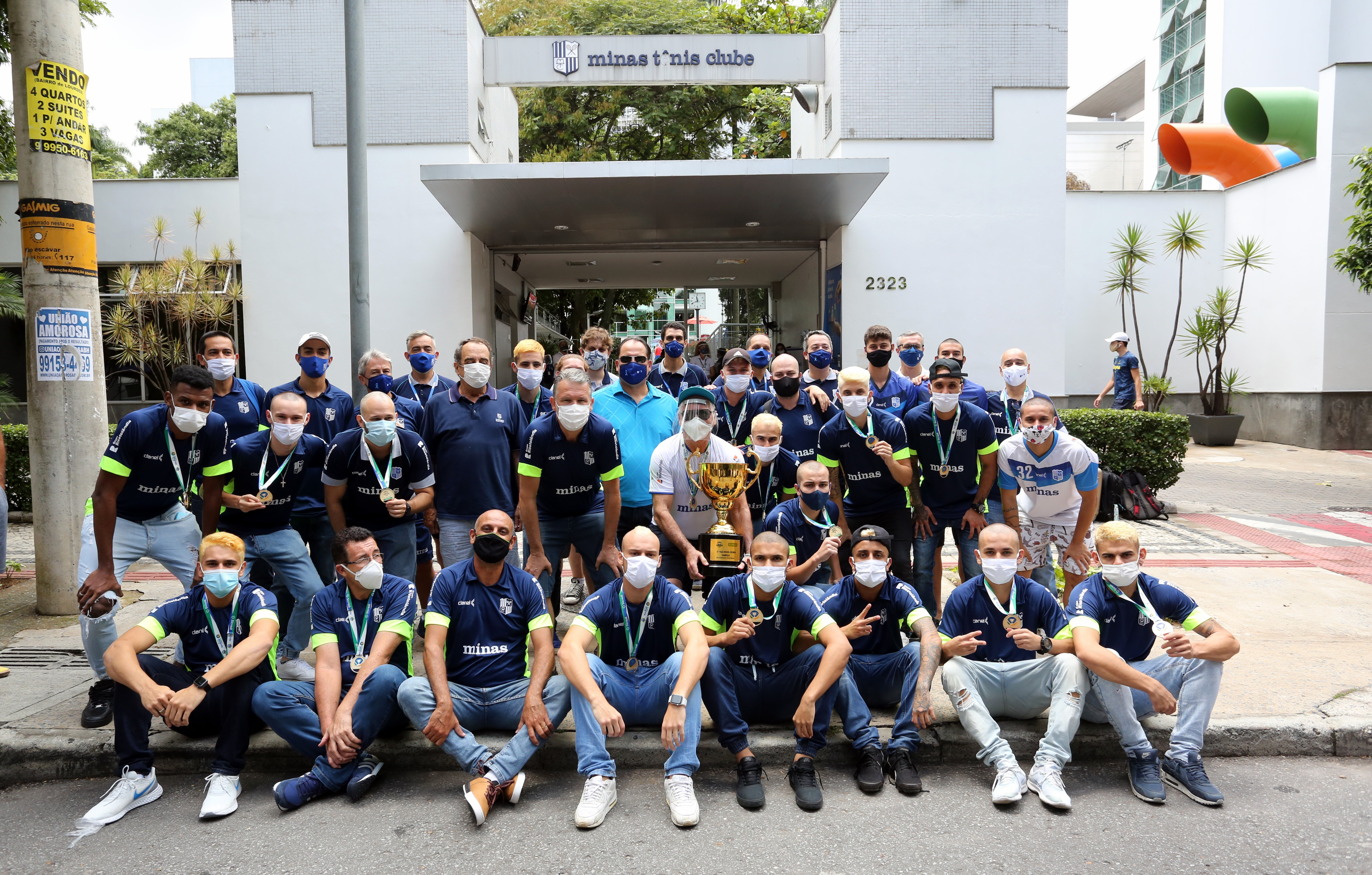 Equipe minastenista foi recebida pela diretoria no Minas I (Foto: Orlando Bento/MTC)