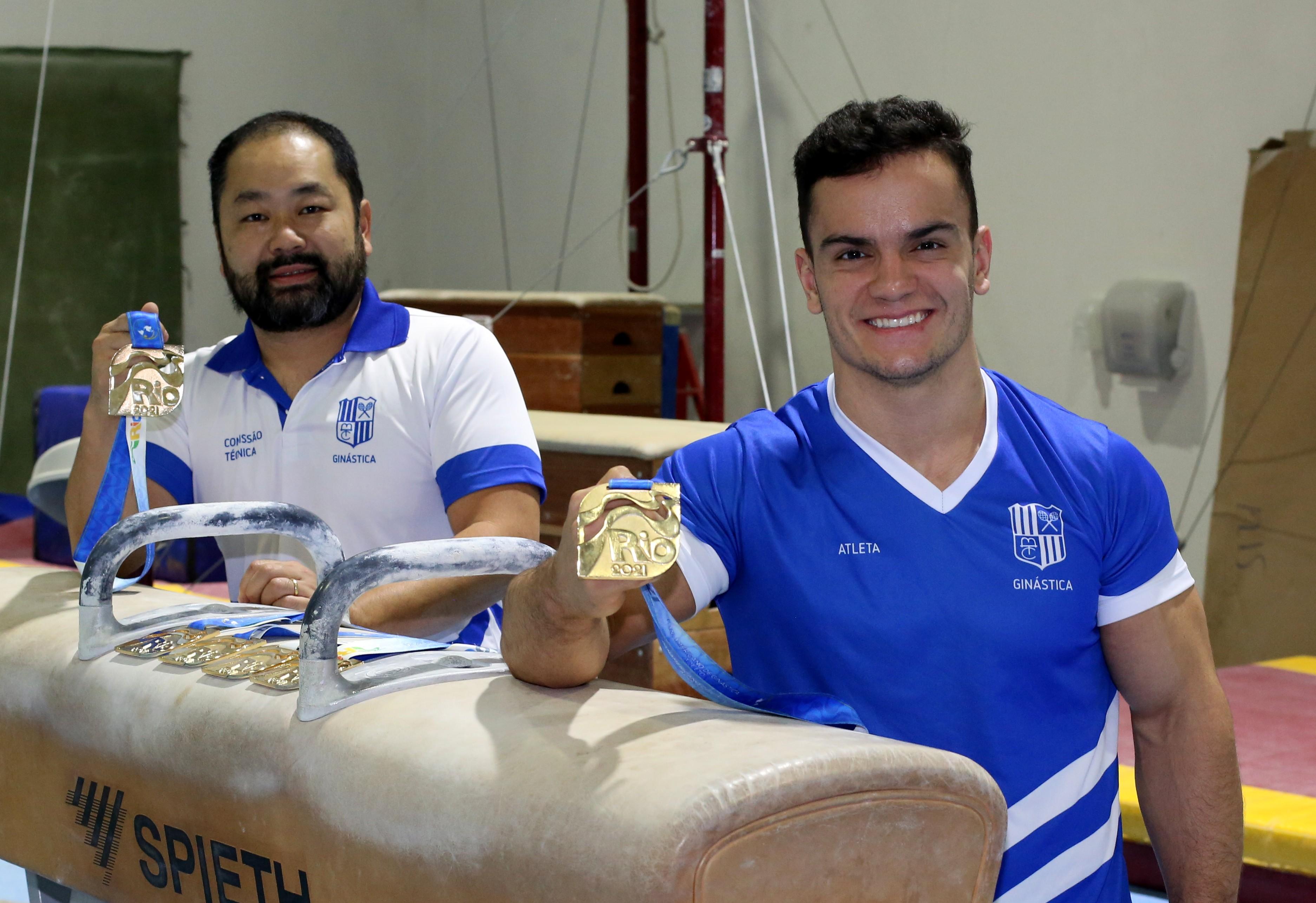 Ricardo Yokoyama e Caio Souza representarão o Minas em Tóquio (Foto: Orlando Bento/MTC)