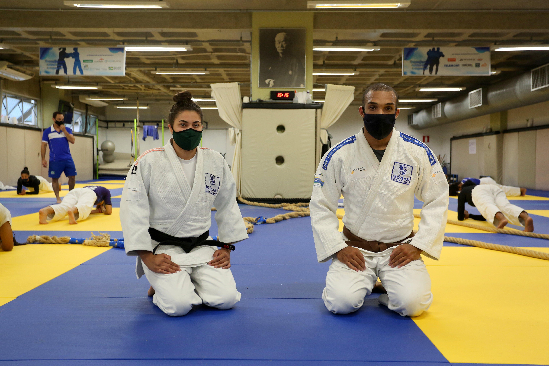 Mantena e Kayo sonham em representar o Minas e o Brasil em Paris 2024 (Foto: Orlando Bento/MTC)