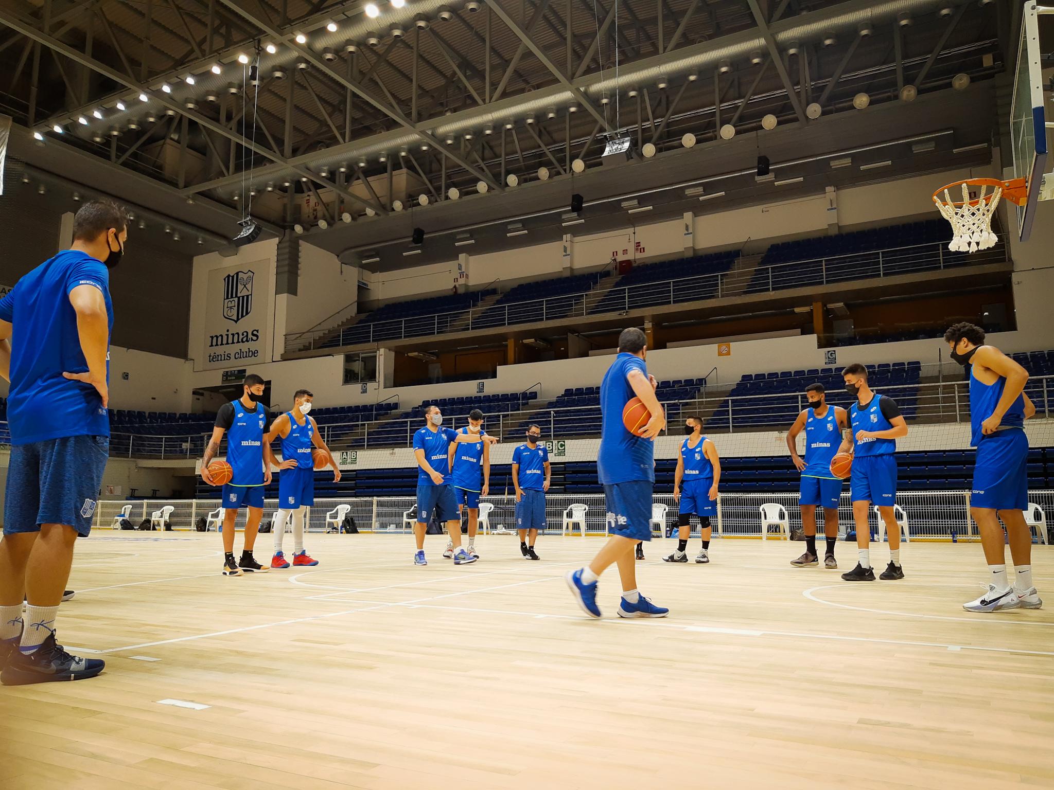Minas Storm treina na Arena MTC para fazer o primeiro jogo em casa no NBB 2020/21 (Foto: Divulgação/MTC)