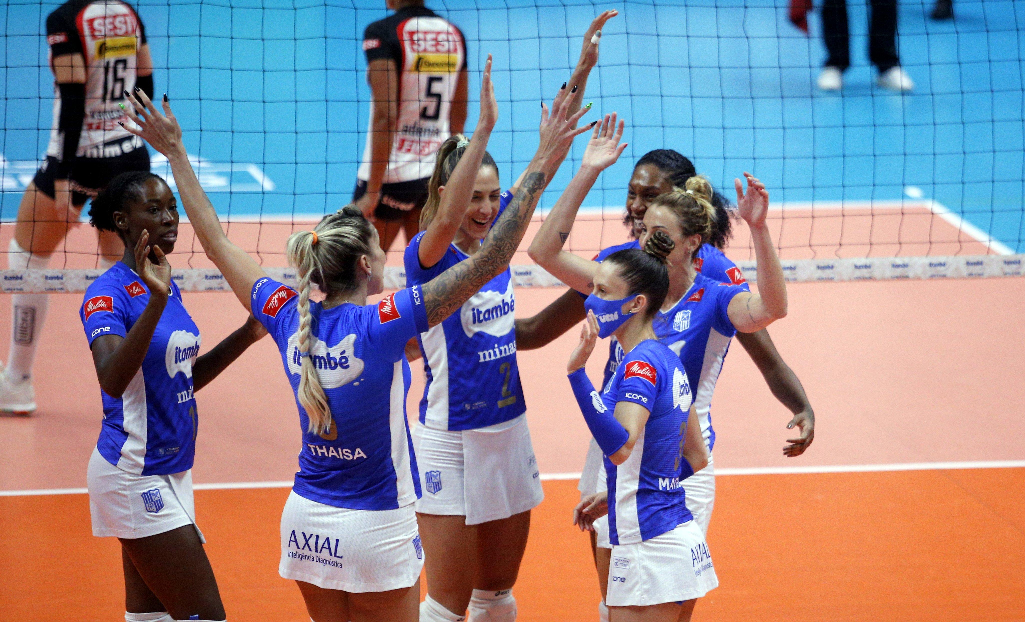 Itambé/Minas conquista a 14ª vitória seguida (Foto: Orlando Bento/MTC)