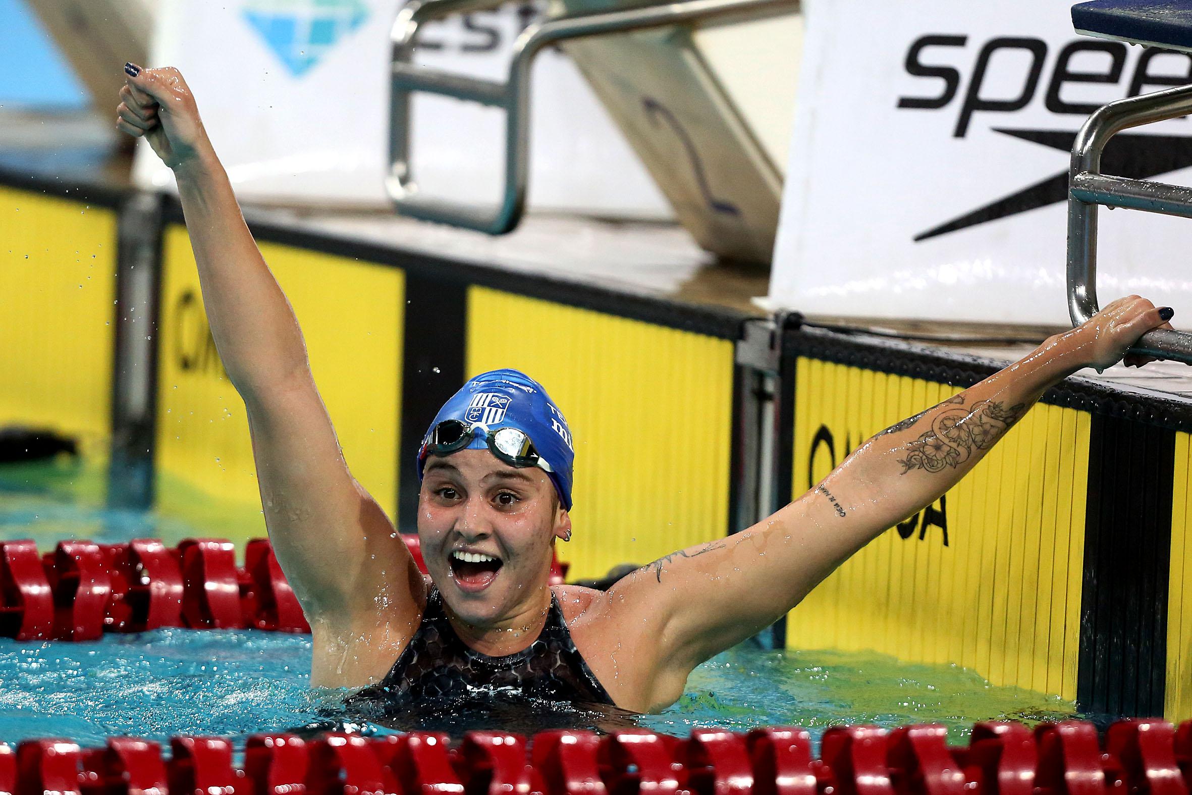 Beatriz Dizotti garantiu o primeiro índice feminino da natação para os Jogos de Tóquio / Fotos: Ricardo Sodré/MTC