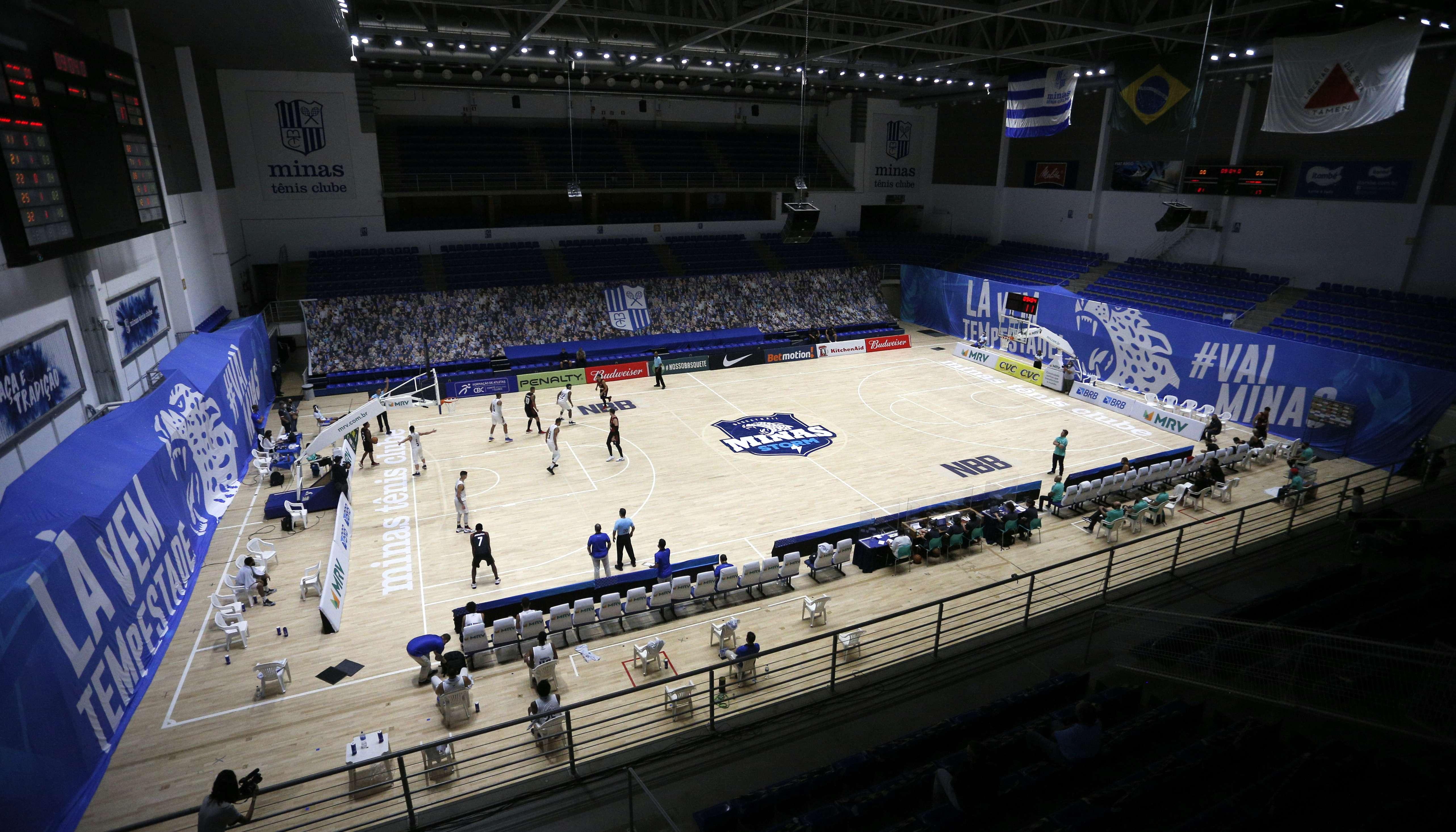 Arena Minas Tênis Clube recebe o segundo jogo do Minas na temporada 2020/21 do NBB (Foto: Orlando Bento/MTC)