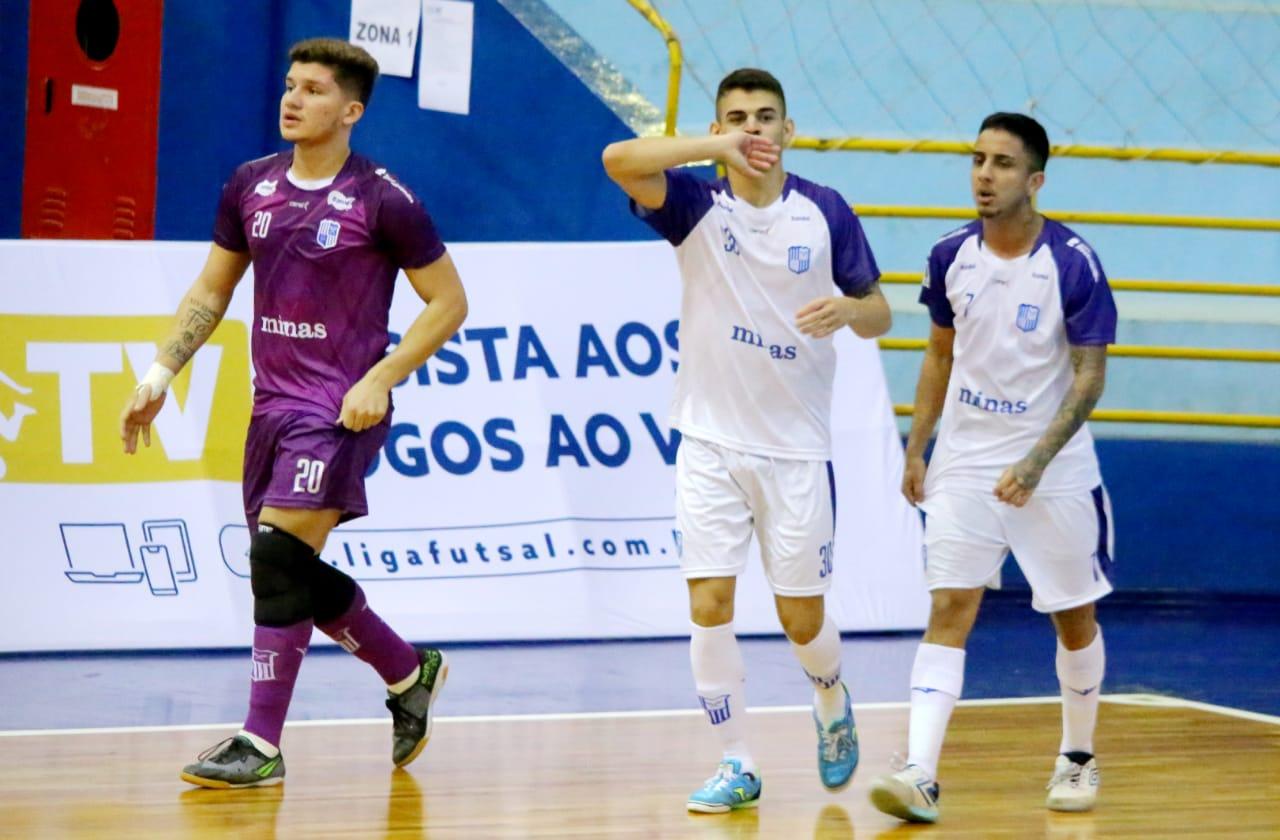 Ala Ribeiro anotou um dos gols do Minas no jogo (Foto: Nilton Rolin/Foz Cataratas)